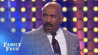 Steve Harvey thinks Austin just BROKE the game board! See why! | Family Feud
