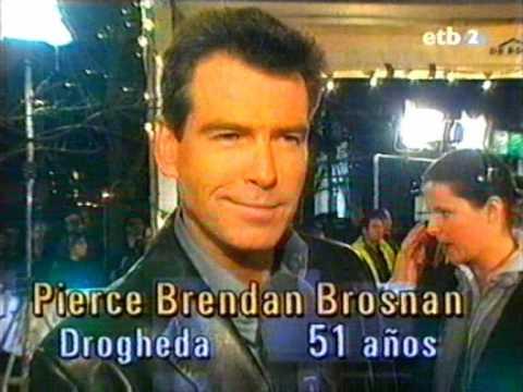 Biografía a Pierce Brosnan en la ETB2 programa (la noche de)