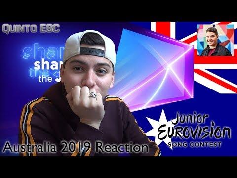 Jordan Anthony - We Will Rise Reaction - Junior Eurovision 2019 (Australia) - Quinto ESC