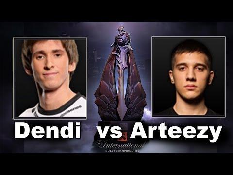 Dendi vs Arteezy 1v1 Solo The International 4 Dota 2