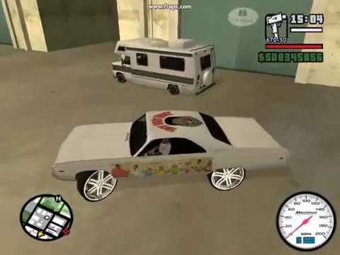 GTA SAN ANDREAS BOX CHEVY DONK MOD PART 3 LOUIS VUITTON RIMS Video