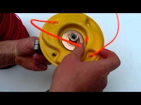 Как намотать леску на шпулю мотокосы