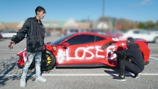 I Caught A Stranger Spray Painting My Ferrari (COPS CALLED)