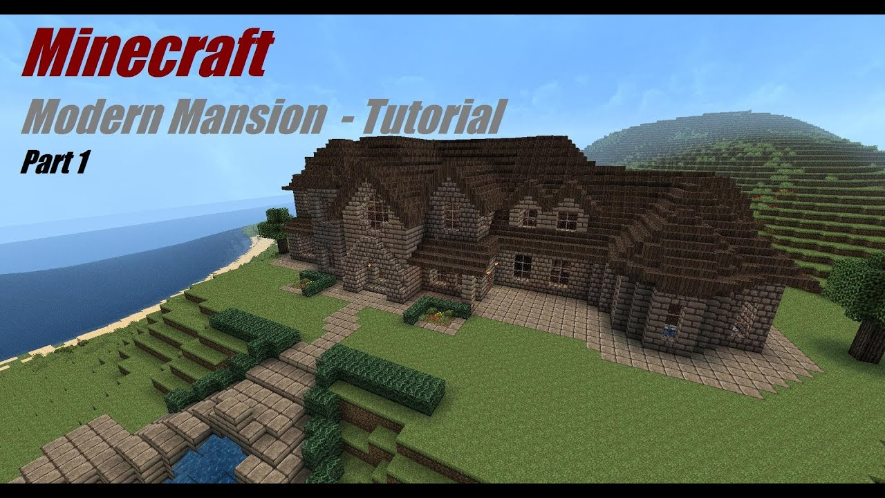 how to build a minecraft mansion tutorial