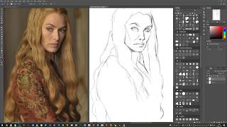 Game of Thrones - Time-lapse Portrait Painting of Cersei Lannister (Digital)