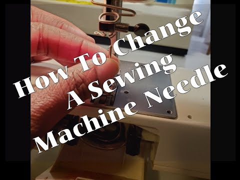 how to change the needle on a sewing machine