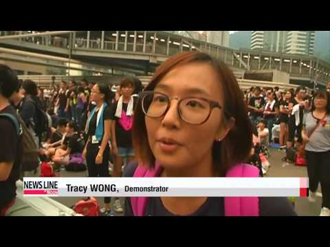 Record crowd expected for Hong Kong protests on National Day   홍콩 대규모 민주화 시위…오늘