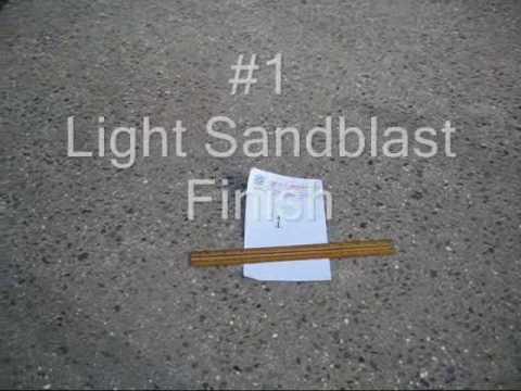 Abg Test Pour 2 Sandblast Finish Youtube