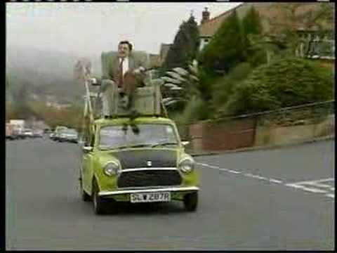 Mr. Bean Video - Mr. Bean Driving On Roof Of A Car video