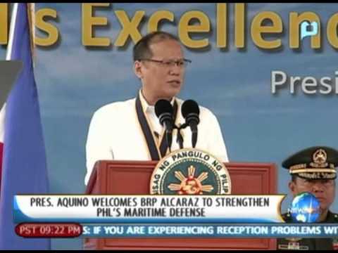 NewsLife: President Aquino welcomes BRP Alcaraz  to strengthen Philippines' maritime defense