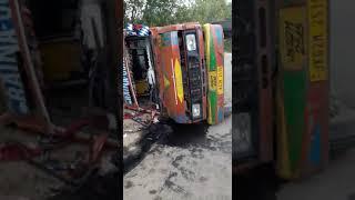 Accident on sundarbani Seri  Road. 10 injured shifted to Sub Centre Hospital Sundarbani.
