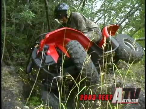 2003 Yamaha Kodiak 450 Test - ATVTV Test Video
