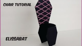 How to make a Elissabat Chair tutorial - Monster High