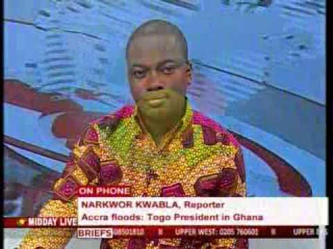 MiddayLive - Accra Floods  - Togo Prez. to visit sites  - 5/6/2015