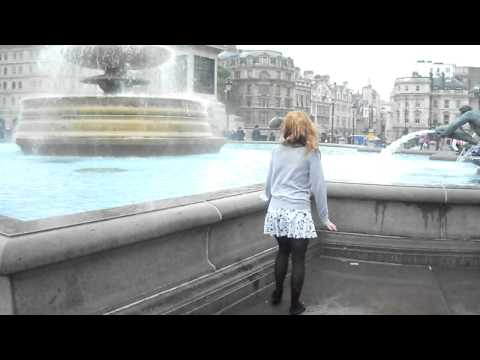 Remi Jumps into the Fountain at Trafalgar Square