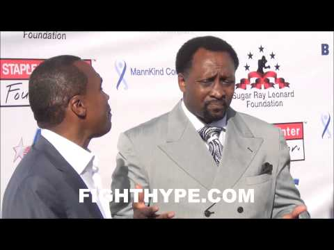SUGAR RAY LEONARD AND THOMAS HEARNS REUNITE AND JOKE ABOUT FIGHTING DURING CHARITY EVENT
