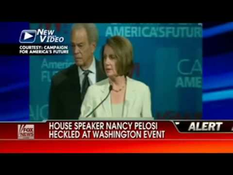 Nancy Pelosi Gets Heckled -