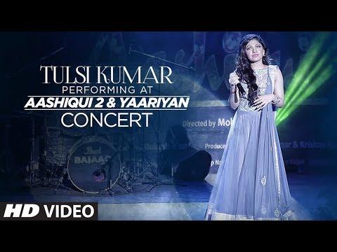 Tulsi Kumar performing at Aashiqui 2 and Yaariyan concert