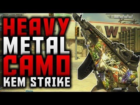 COD Ghosts: HEAVY METAL CAMO KEM STRIKE! (New Micro DLC HEAVY METAL Camo KEM Strike Gameplay)