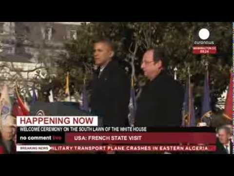 Hollande - Obama: Welcome ceremony on the South lawn of White House (recorded LIVE feed)
