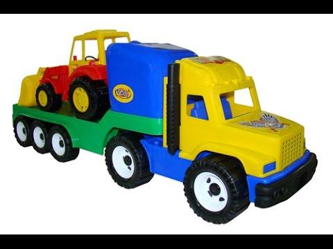 Развивающая раскраска учим цвета трактор для детей