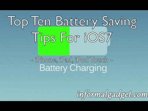 iPhone 5S/5C Battery Life Saving Tips & Tricks To Make iOS7 iPh