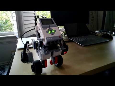 Self-balancing LEGO EV3 robot on two wheels - like a segway