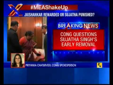 Congress questions Sujatha Singh's early removal