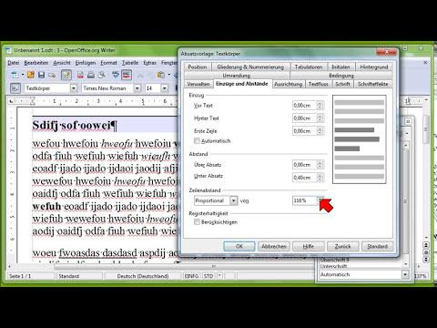 12 OpenOffice.org Writer, Teil 2, Absatzformatvorlagen, Zeilenabstand, Erstzeileneinzug