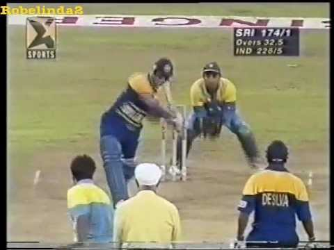 Sanath Jayasuriya 120* vs India - SINGER CUP 1996