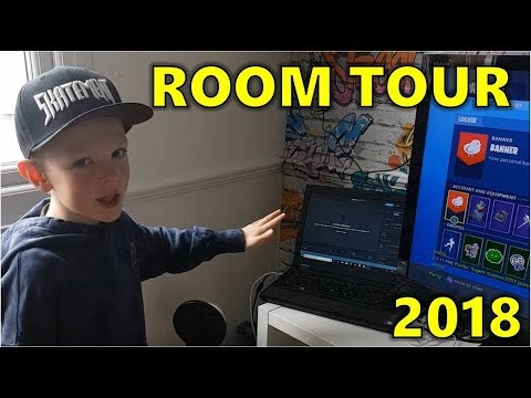PRINCEWILLGAMER ROOM TOUR 2018 - WWE TOYS & GAMING SET UP