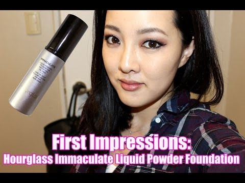 First Impressions: Hourglass Immaculate Liquid Powder Foundation   makeupbydamee