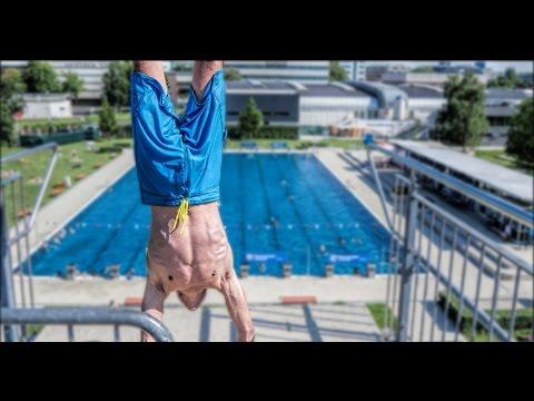 4K - Parkbad Linz - Splashdiving