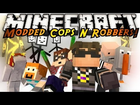 Minecraft Mini Game : MODDED COPS N ROBBERS WEIRD MOBS
