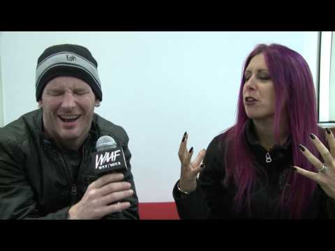 WAAF's Mistress Carrie sat down with Slipknot's Corey Taylor before their 12/7 show at the Tsongas Center in Lowell, MA, Check out the photo gallery: http://...