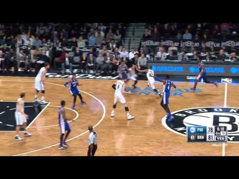 Markel Brown Brooklyn Nets Steal and Assist vs 76ers on 12/10/15
