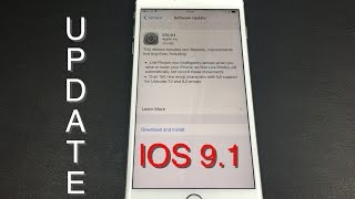 How to install IOS 9.1 on iPhone 6s Plus