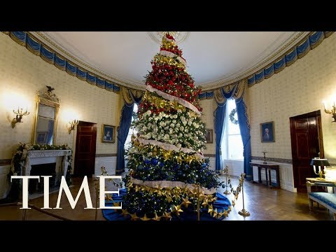 First Lady Melania Trump Receives The 2017 White House Christmas Tree | LIVE | TIME