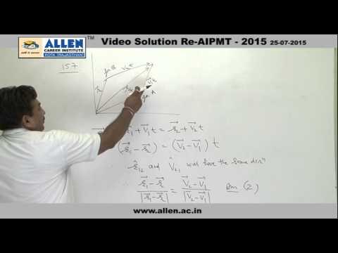 AIPMT 2015 Re-Exam Physics Solution – Q. No. 155, 157, 158 (Paper Code-A)