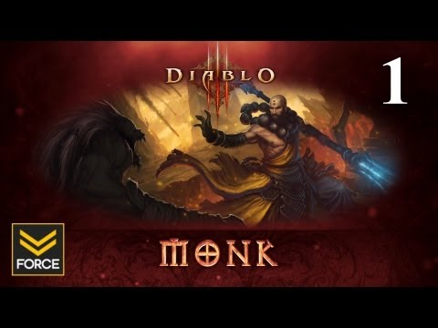 Diablo 3 Beta - Monk Gameplay (Commentary) Part 1