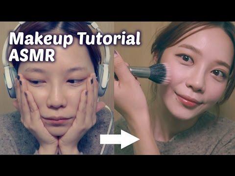 ASMR Korean | Makeup routine tutorial 생얼부터 풀메까지 (Binaural)