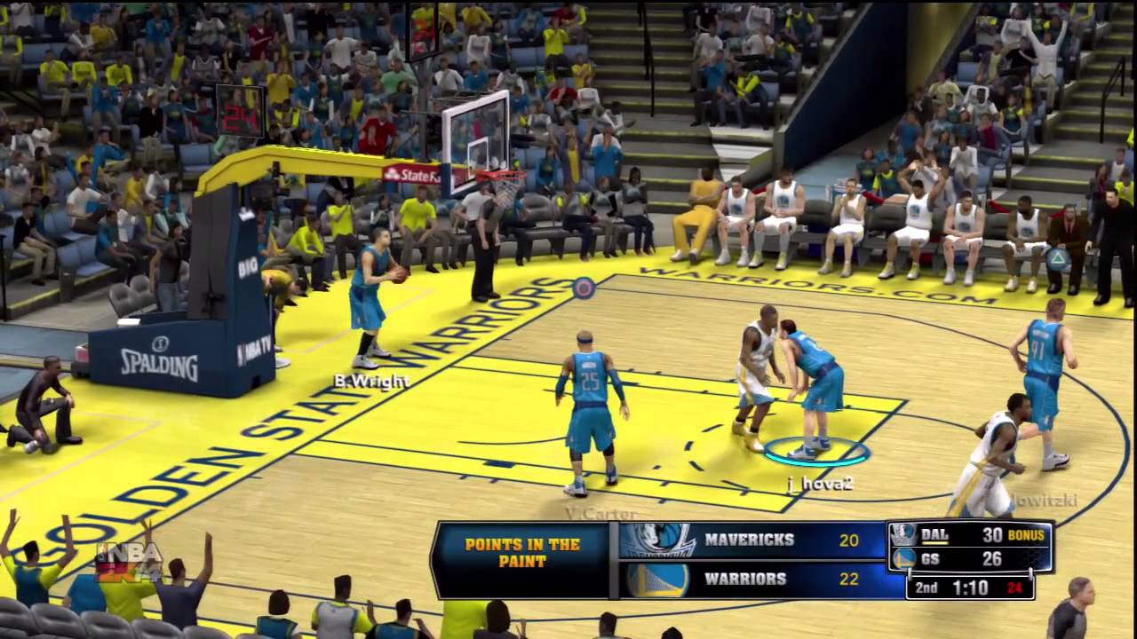 Nba 2k14 Ps3 Online ranked match Dallas Mavericks vs Golden State Warriors - YouTube