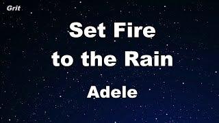 Download Lagu Set Fire To The Rain - Adele  Karaoke 【No Guide Melody】 Instrumental Gratis STAFABAND