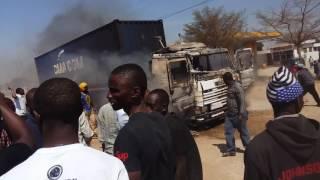 Scania semi trailer yateketea kwa moto Dodoma