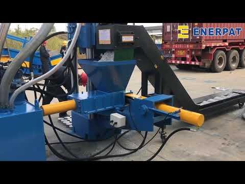 metal  briquette press  compacts steel and aluminum