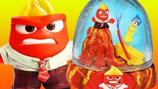 INSIDE OUT ANGER GLITTER GLOBES VOLCANO Lava Eruption JOY Fire Truck Vehicle How To Make Your Own