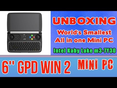 1# GPD WIN 2 UNBOXING - 128 GB SSD 8GB RAM Mini PC Intel m3-7Y30 HD Graphics 615