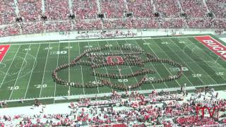"Ohio State athletic band ""cartoons"" halftime show at 2016 spring game"