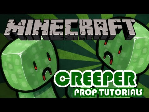 How To Make A Cardboard Creeper - Minecraft