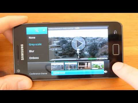 Samsung Galaxy S 2 Review - Video Maker (editor) App